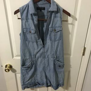 Rag & Bone Jean Romper size 4 zip up
